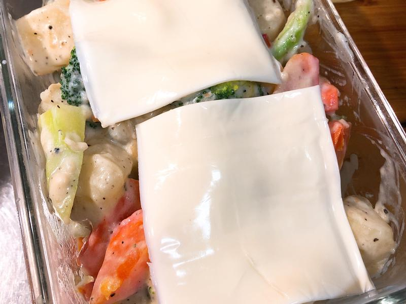 奶油白醬焗烤鮮蔬(素)