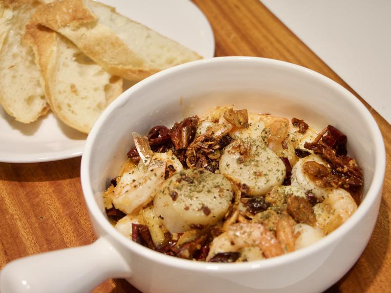 蒜油干貝蝦