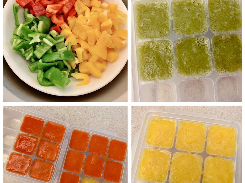 • Baby food • 黃綠紅青椒泥