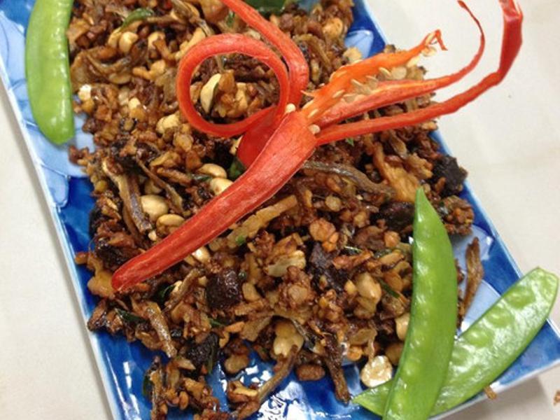 印尼料理。炒乾丹貝Kering tempe(四人份)