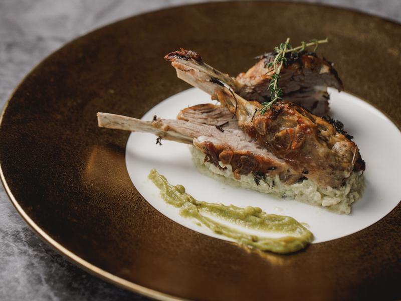 低醣料理 <羊肉> 法式香料烤羊排佐青醬