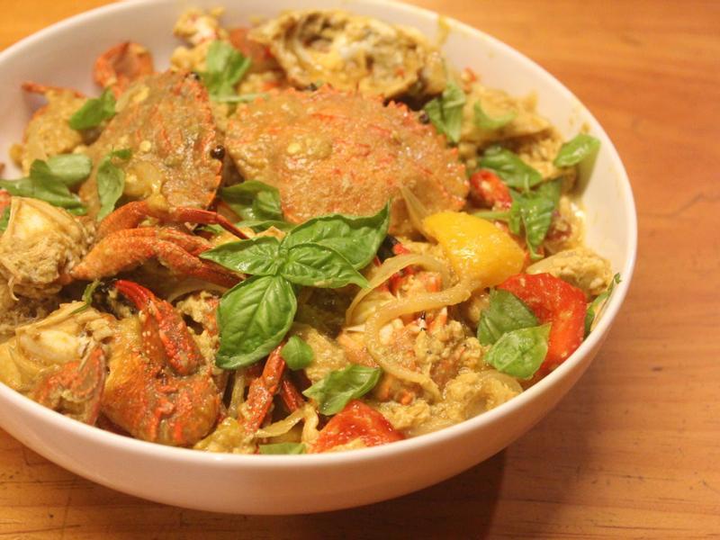 泰式黃咖哩炒蟹
