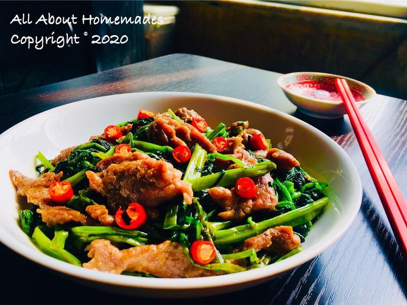 蝦醬空心菜炒牛肉