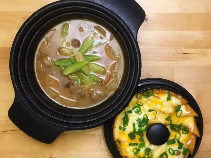 韓式牛雜大醬湯+起司辣炒年糕