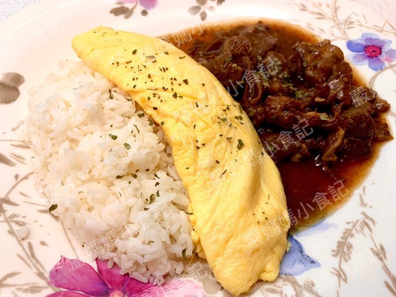 紅燒牛腩歐姆蕾飯