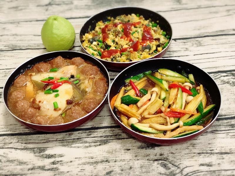 水波爐一爐三菜(水波爐料理)