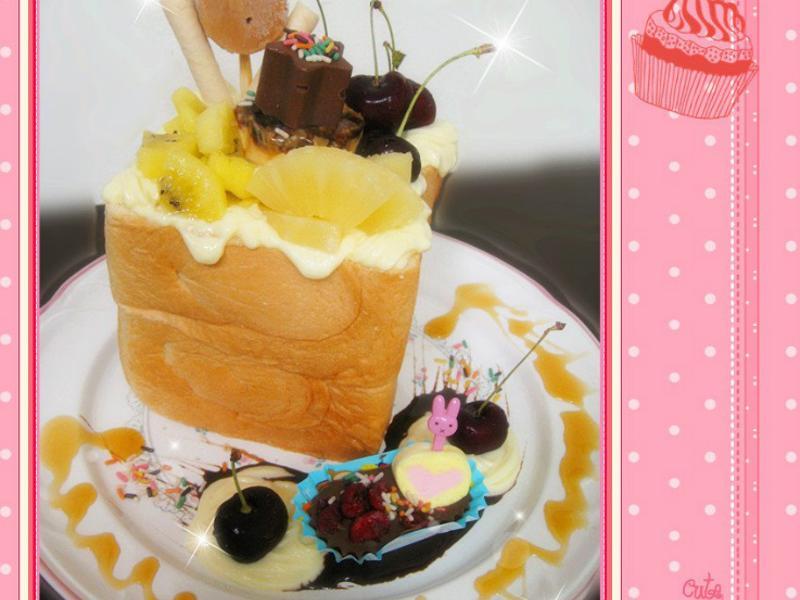 櫻桃水果蜜糖土司
