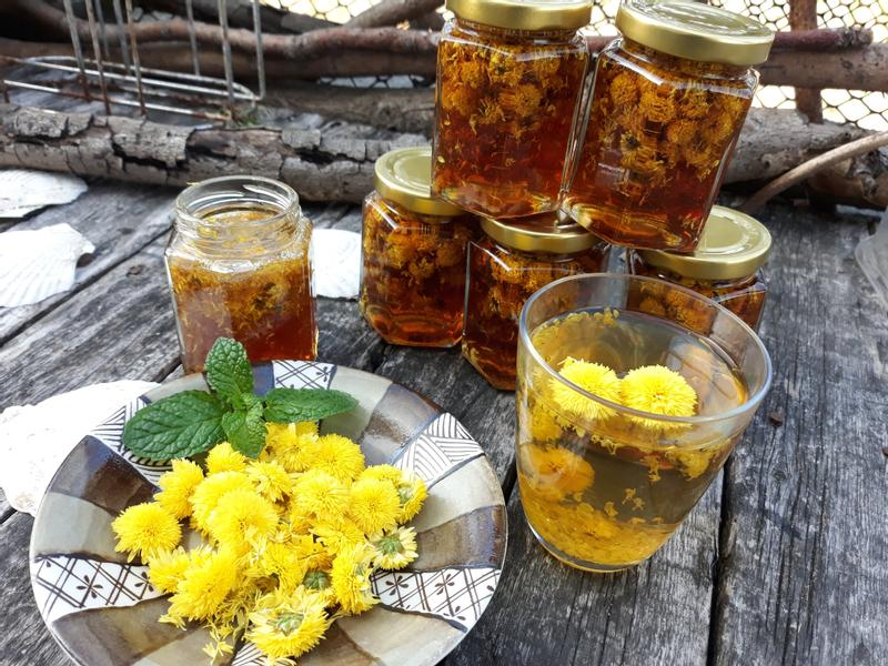 自製杭菊麥芽蜜茶