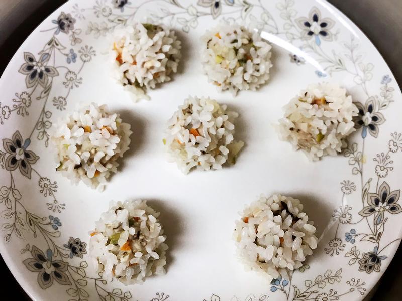寶寶手指食物✨珍珠丸子