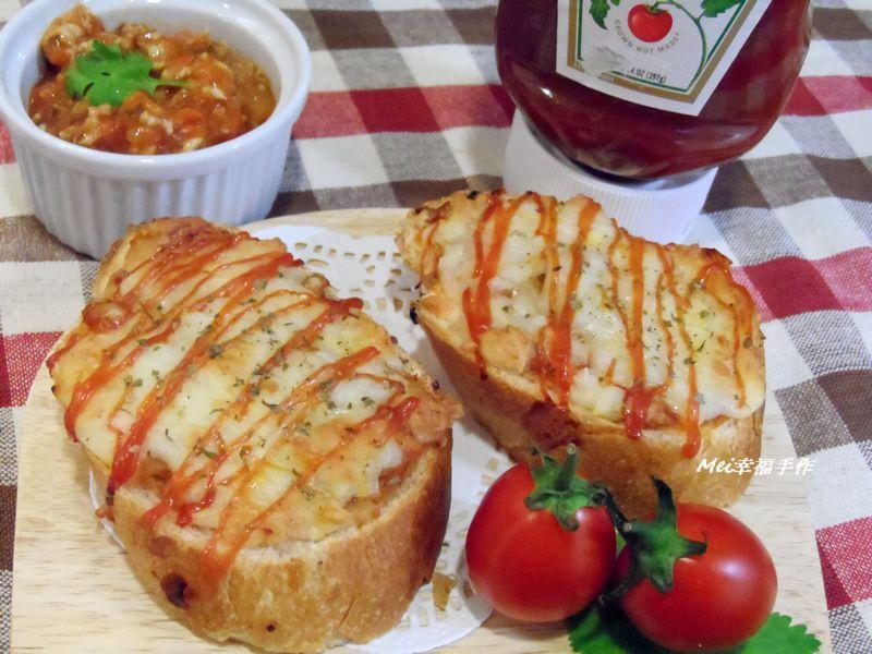 【亨氏番茄醬 100% 純天然】焗烤義大利肉醬法國麵包