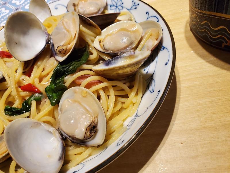 ☆一鍋到底☆奶油培根蛤蜊義大利麵