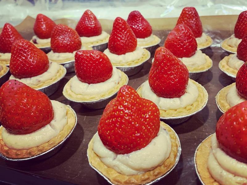 超簡單草莓卡士達塔《現成塔皮、卡士達粉》
