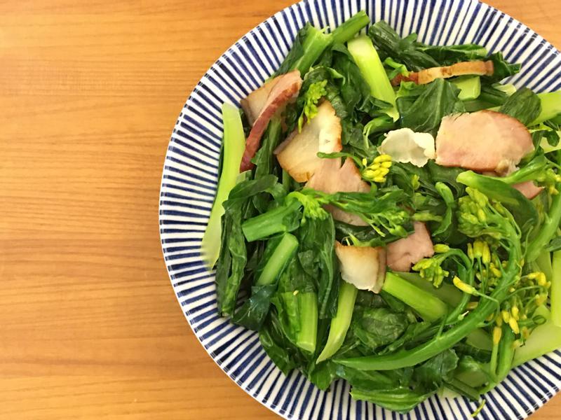 眷村味的臘肉橄欖菜