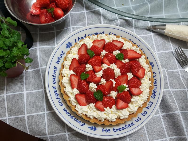 草莓生乳酪派(氣炸鍋)