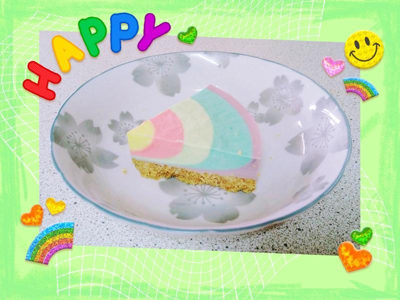 彩虹生乳酪蛋糕