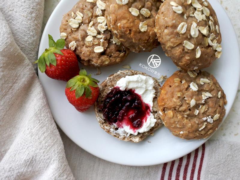 高纖燕麥優格司康/快速麵包(無油無糖)