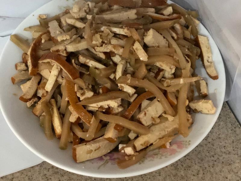 榨菜豆乾絲