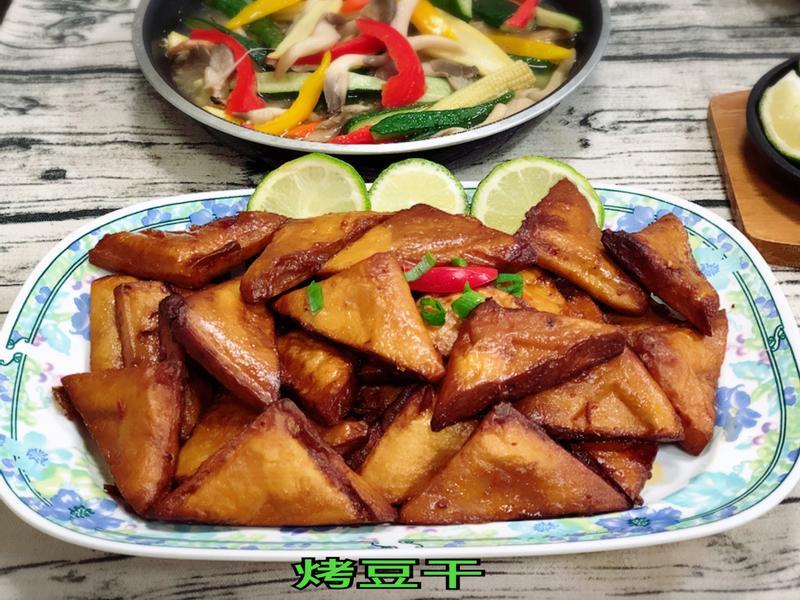 烤豆干(水波爐料理)