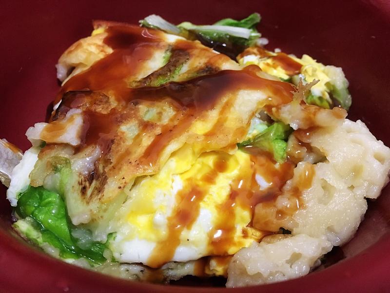 小白菜麵粉煎(懶人晚餐)