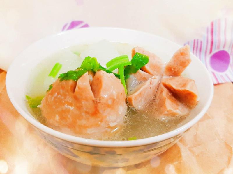 菜頭貢丸排骨湯 (今天特別想念你)