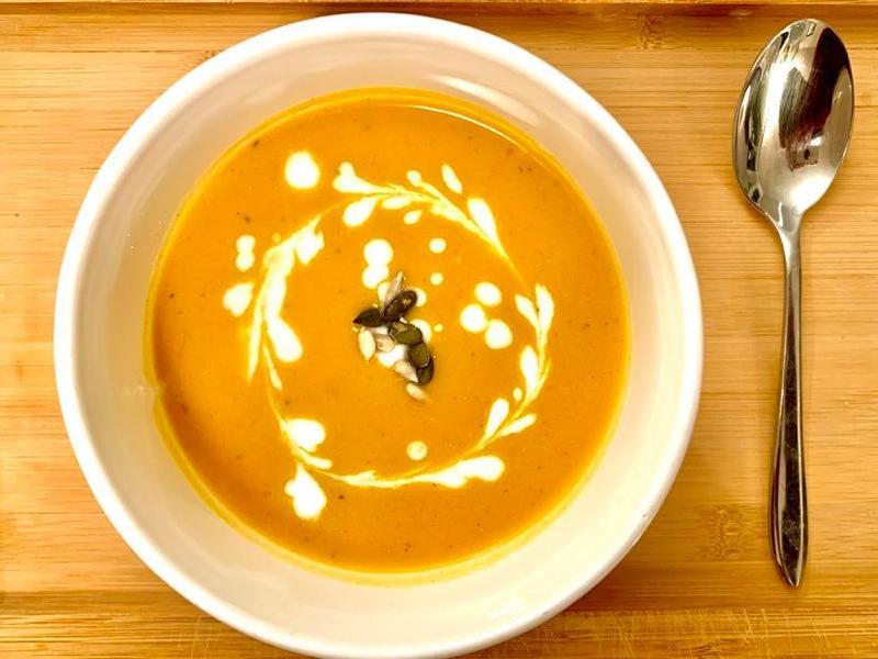 豪華版的咖哩南瓜湯