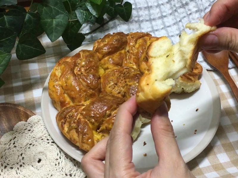 氣炸鍋 氣炸香蒜手撕麵包 (純手工)