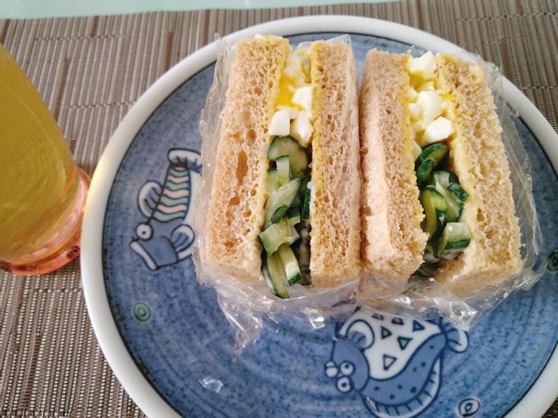 好男人料理-雞蛋沙拉小黃瓜三明治