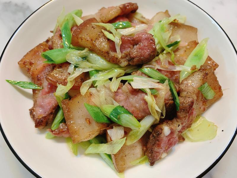 蒜苗鹹豬肉~快速上菜~零廚藝