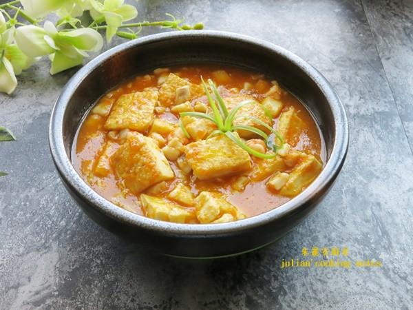 [黃金海鮮豆腐]家常菜 簡單料理