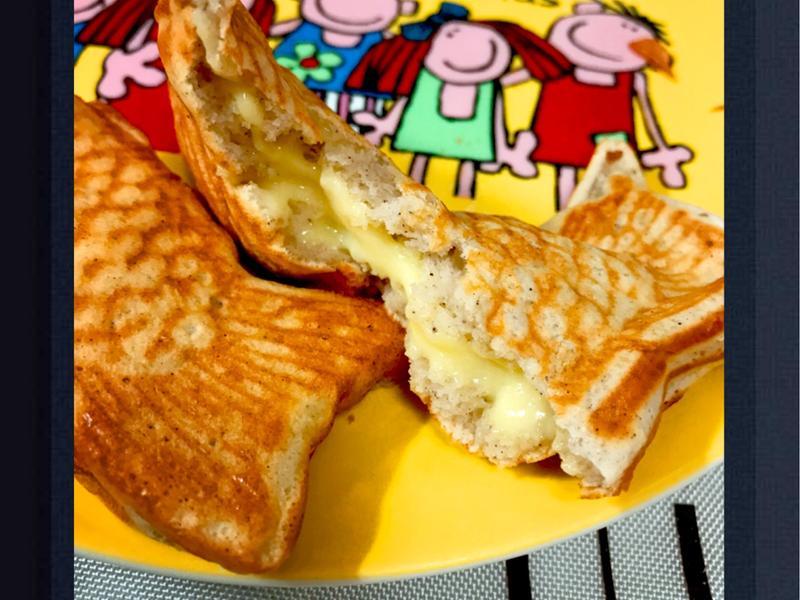 九州鬆餅粉vs卡士達醬