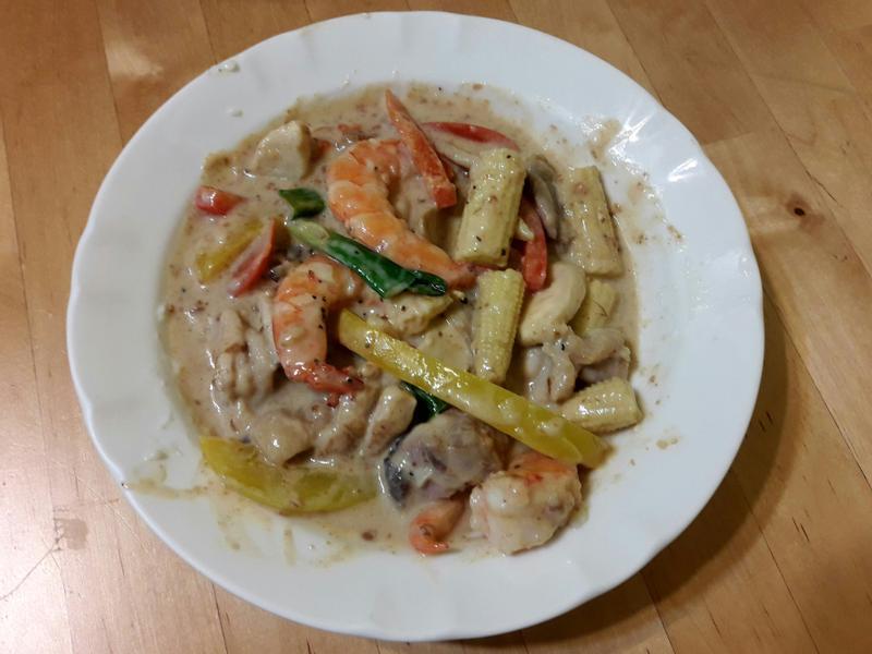 【輕食系列】白醬鮮蝦時蔬雞腿肉