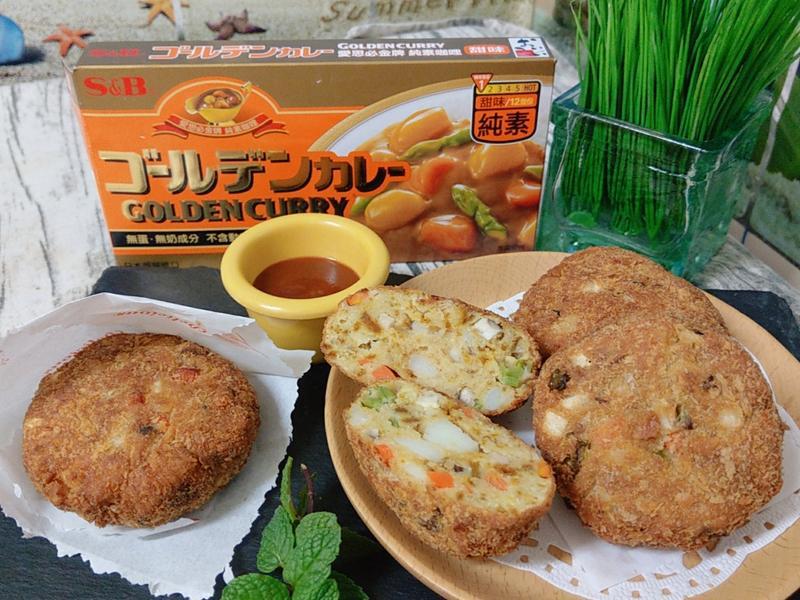 咖哩豆渣餅(蛋奶素)
