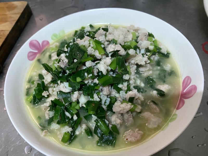 韭菜炒肉燥