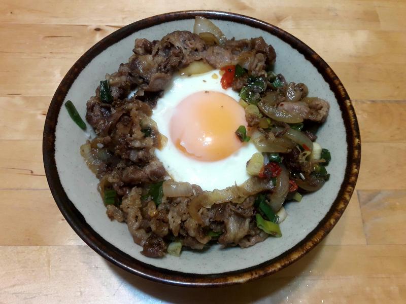 【日本料理】牛肉丼飯