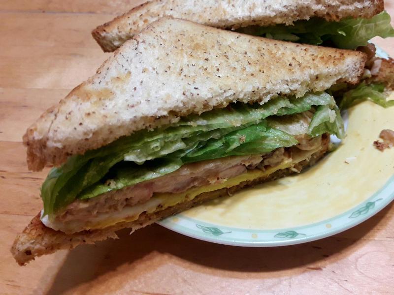 【早餐系列】照燒雞腿肉三明治