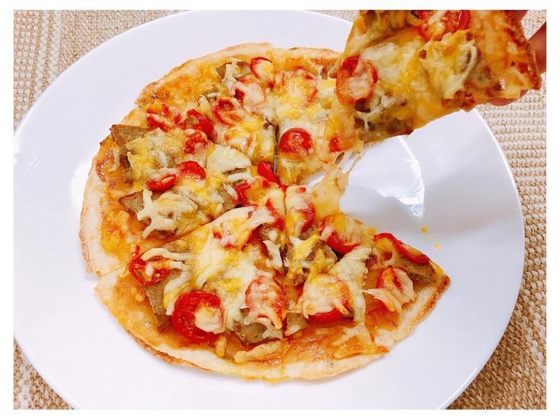 蕃茄肉排起司Pizza