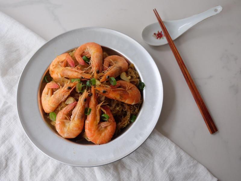 週末の一品 - 咖哩鮮蝦粉絲