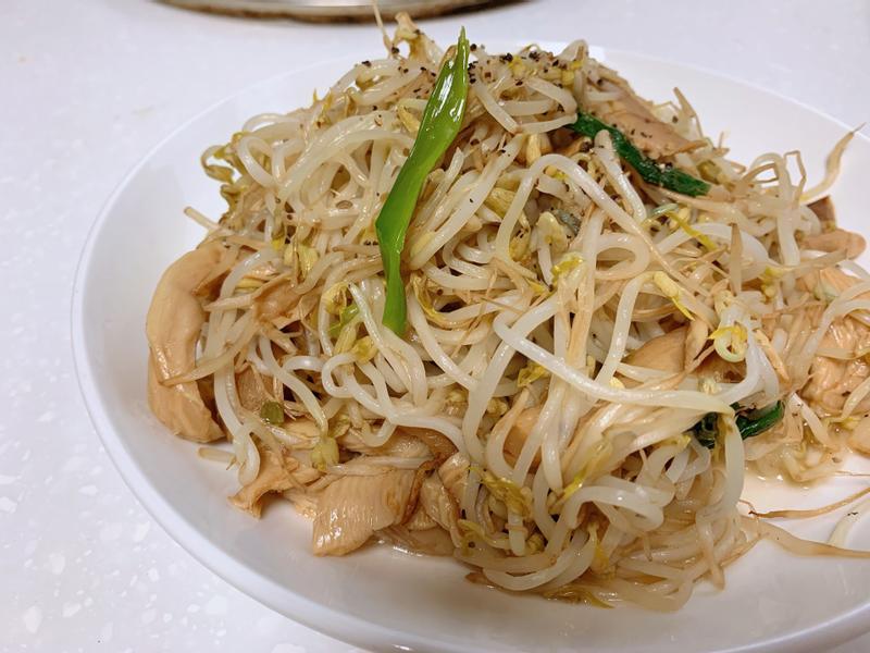 豆芽炒杏鮑菇