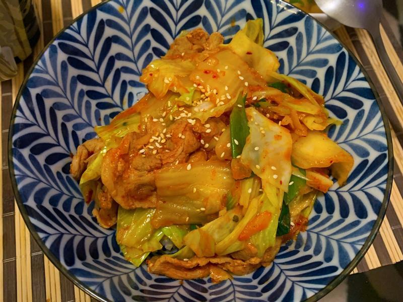 韓式泡菜豬肉丼飯