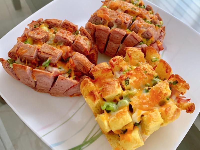 氣炸香蔥火腿起司饅頭🧀早餐新選擇