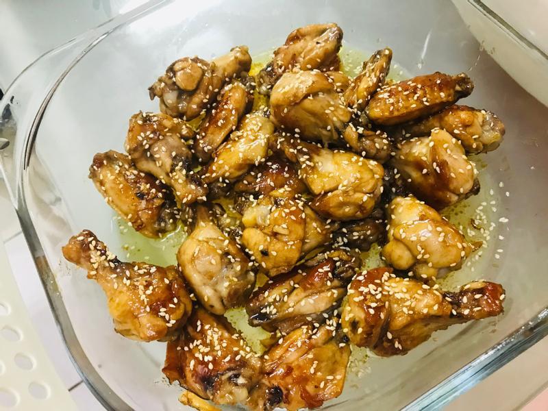 煎一煎就可以吃:蜂蜜蒜味雞翅