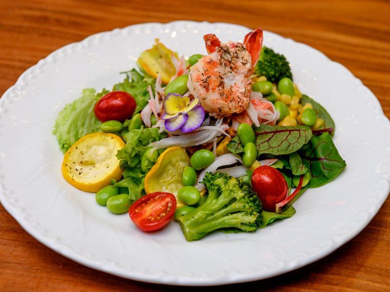 低醣料理 <沙拉> 毛豆海鮮沙拉