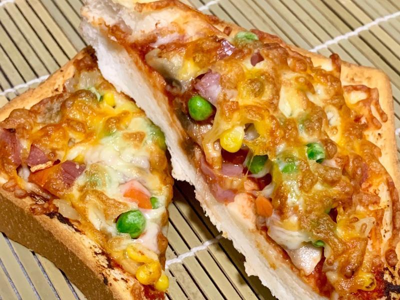 氣炸厚片吐司pizza