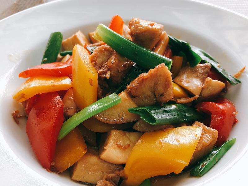 雞球彩蔬/杏鮑菇紅黃甜椒