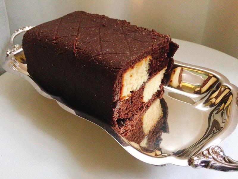 雙色棋盤蛋糕