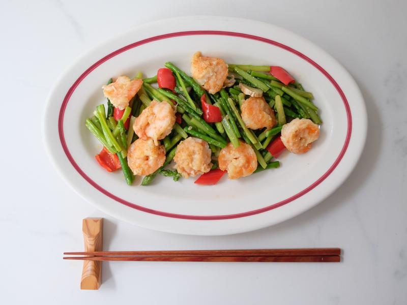 台式蘆筍炒蝦仁