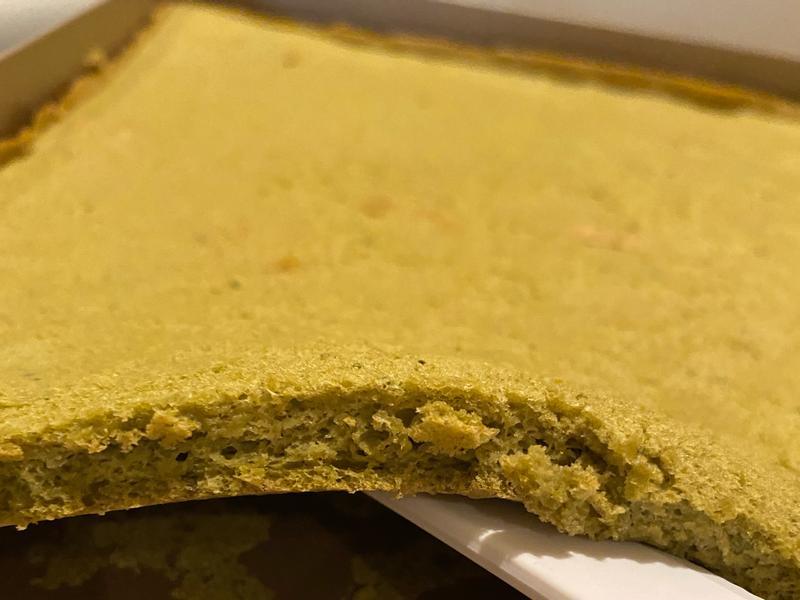 抹茶豆渣海綿蛋糕