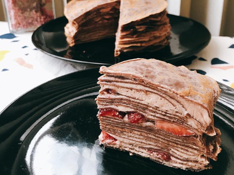 *日式點心-草莓巧克力千層蛋糕