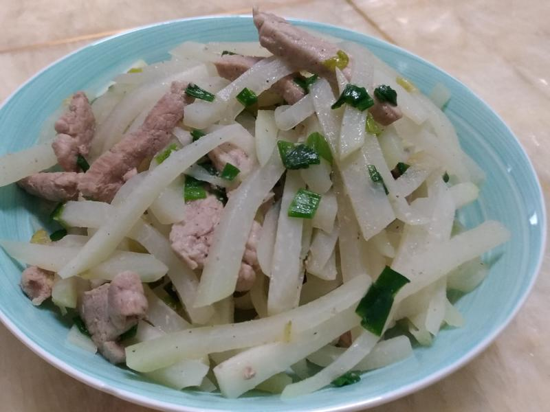 結頭菜炒肉絲