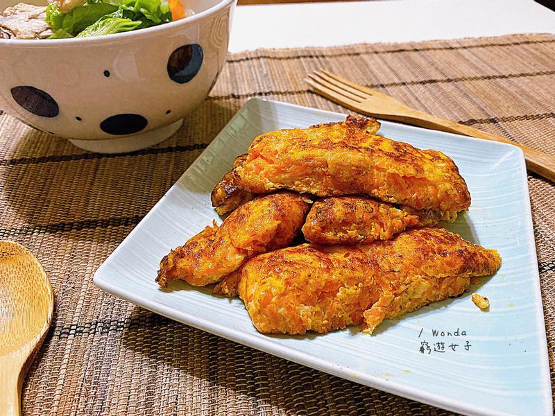 簡易家常菜-紅蘿蔔煎蛋捲(帶便當可!)